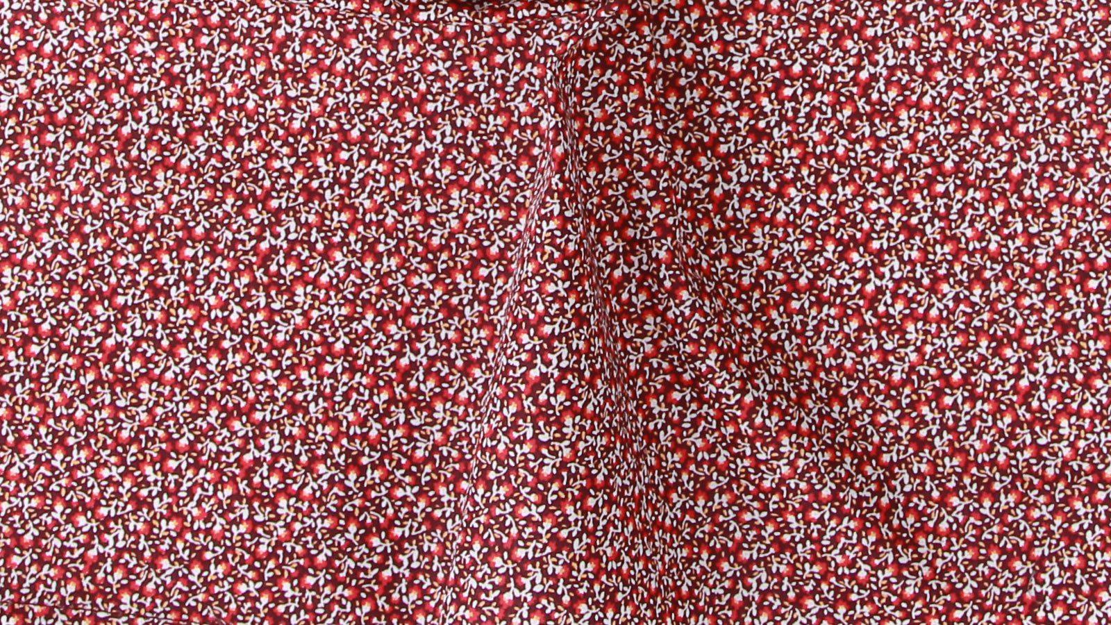 Red Pocket Square with Flowers Pattern - slider image