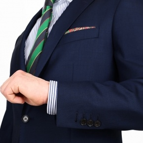 Navy Blue Pick & Pick Suit - thumbnail image 1