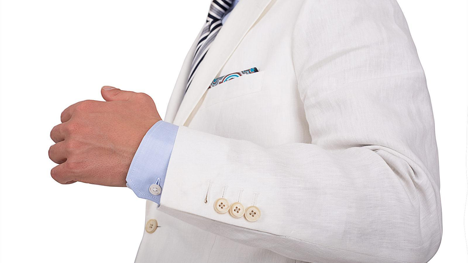 Off-White Linen Suit - slider image