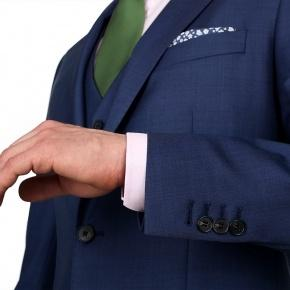 Intense Blue Pick & Pick 3 Piece Suit - thumbnail image 1