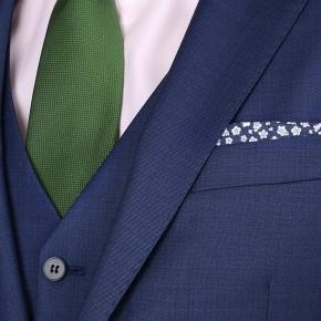 Intense Blue Pick & Pick 3 Piece Suit - thumbnail image 3