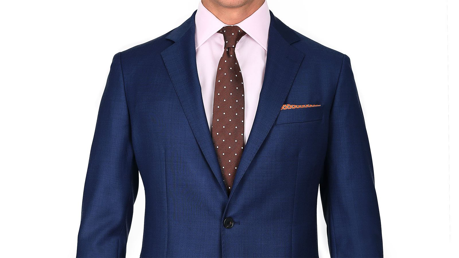 Suit in Intense Blue Pick & Pick Wool - slider image 1