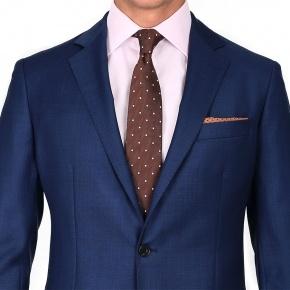 Suit in Intense Blue Pick & Pick Wool - thumbnail image 1