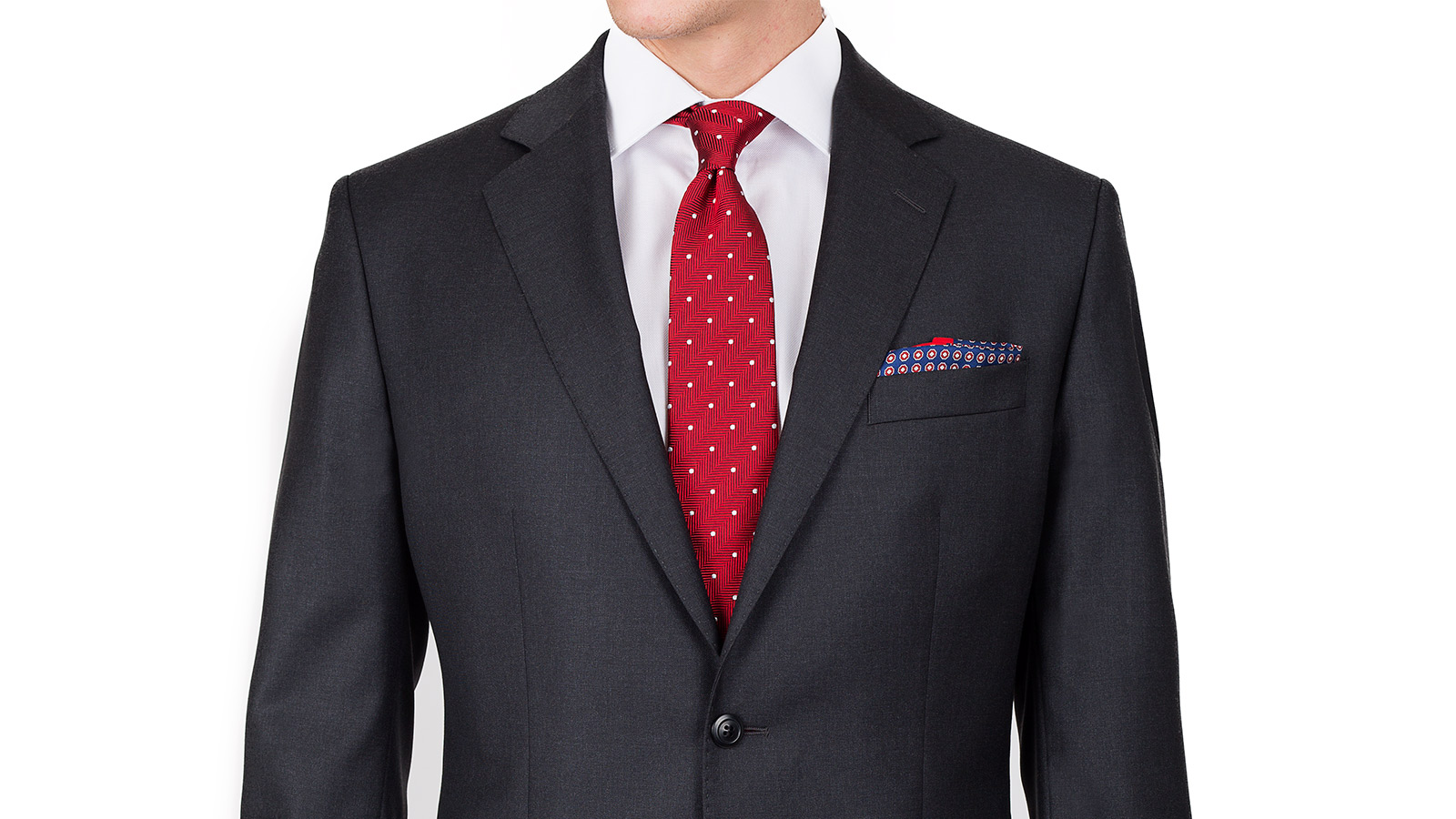 Suit in Solid Charcoal Wool - slider image