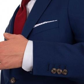 Hopsack Blue Suit - thumbnail image 1