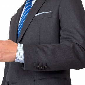 Suit in Solid Grey Wool - thumbnail image 1