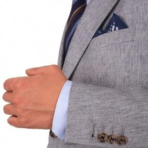Grey Linen 3 Piece Suit - thumbnail image 1