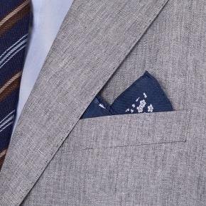 Grey Linen 3 Piece Suit - thumbnail image 2