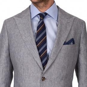 Grey Linen 3 Piece Suit - thumbnail image 3