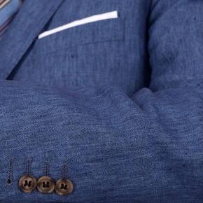 Sky Blue Linen 3 Piece Suit - thumbnail image 1