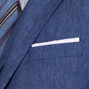Sky Blue Linen 3 Piece Suit - thumbnail image 2