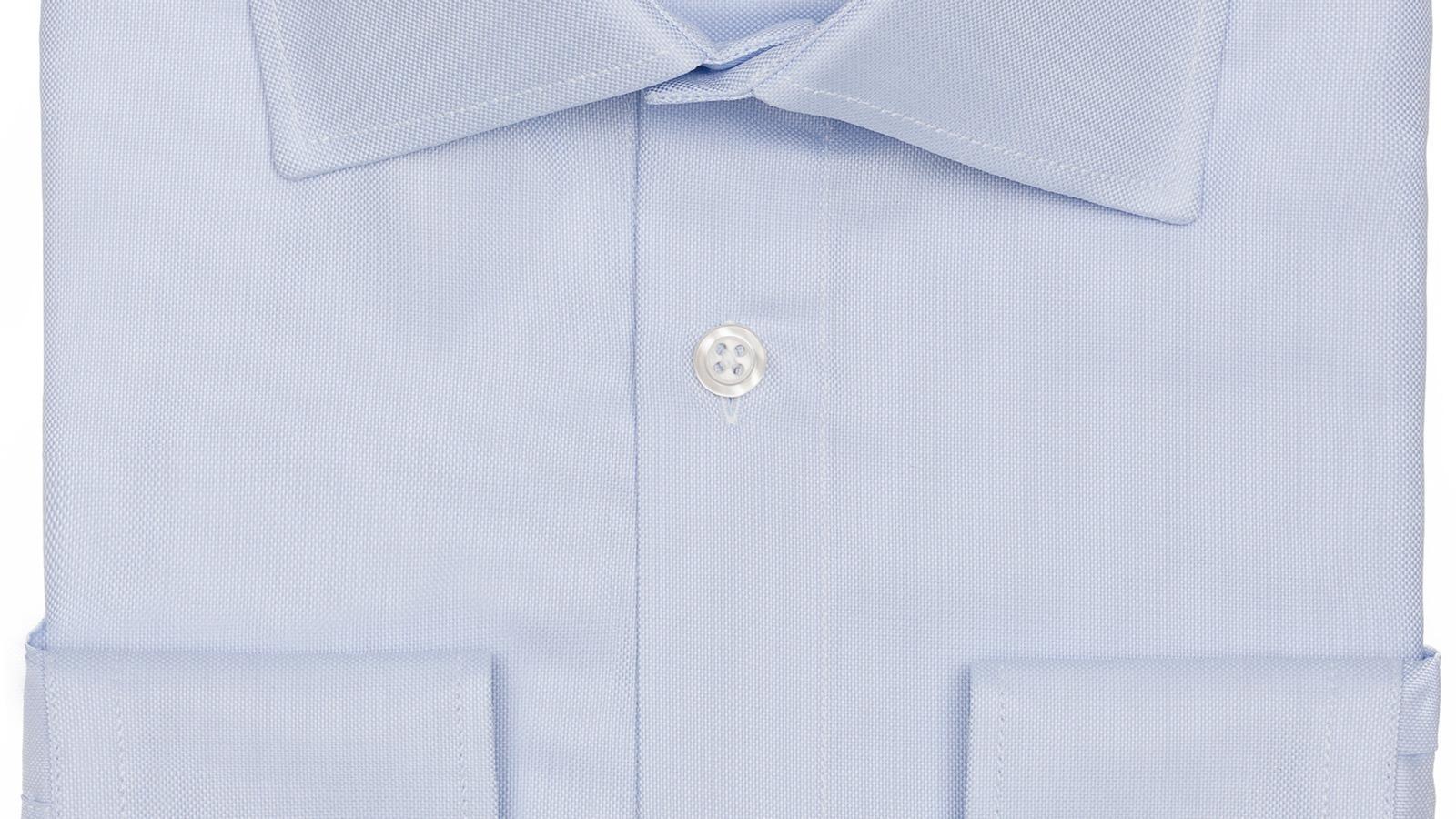 Light Blue Broadcloth Cotton Shirt - slider image