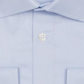 Light Blue Broadcloth Cotton Shirt - thumbnail image 1