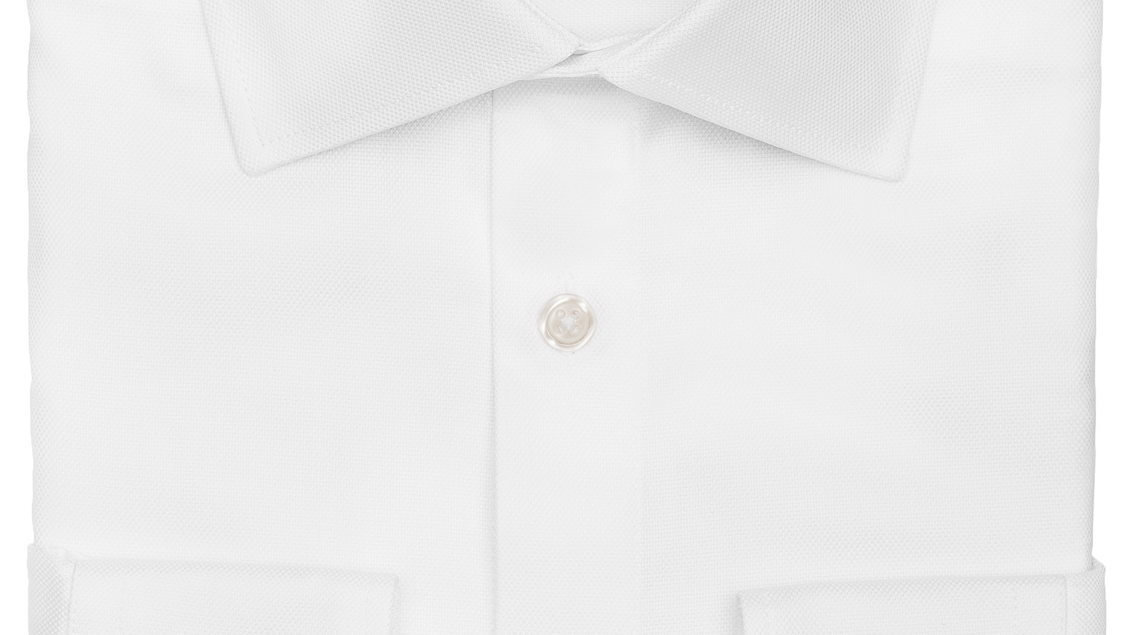 White Two-Ply Cotton Royal Oxford Shirt - slider image
