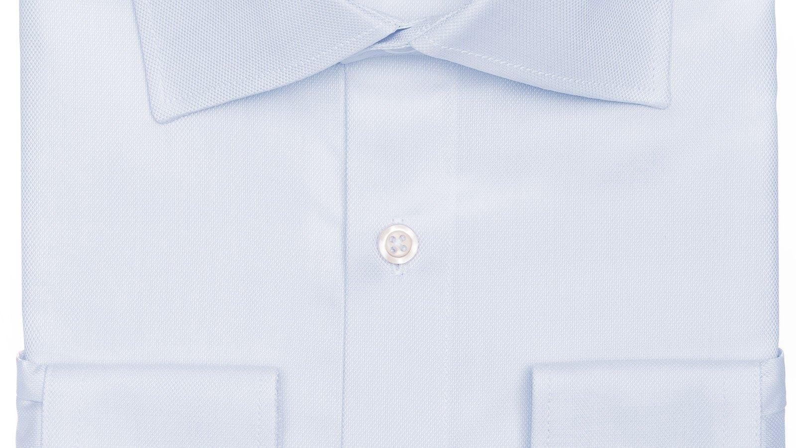 Pastel Blue Cotton Royal Oxford Shirt - slider image