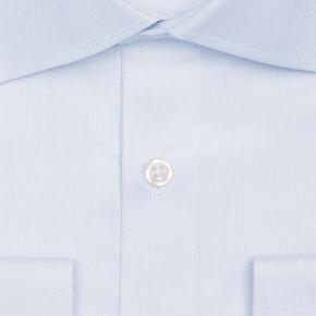 Pastel Blue Cotton Royal Oxford Shirt - thumbnail image 1