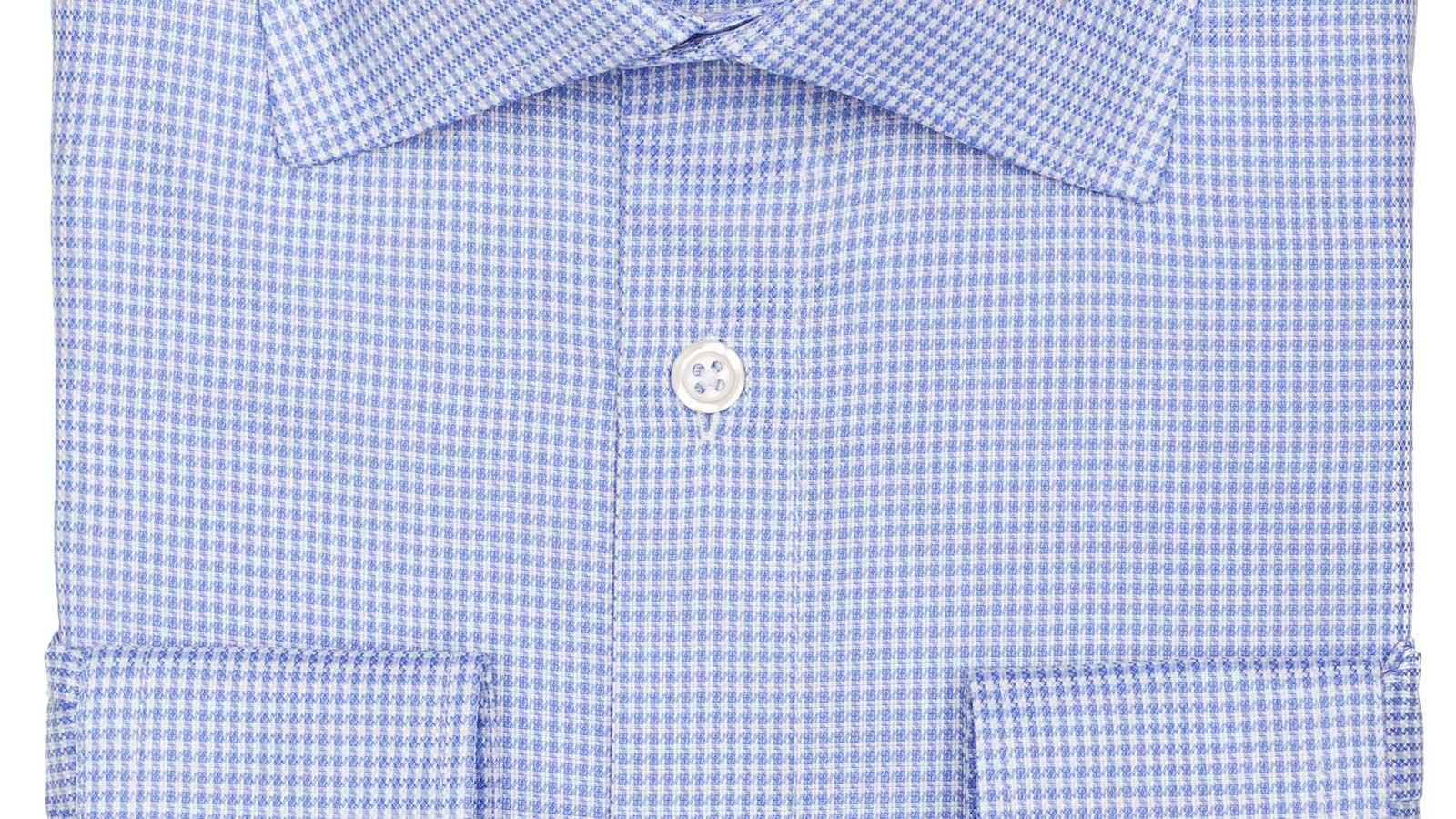 Blue Houndstooth Royal Oxford Shirt - slider image