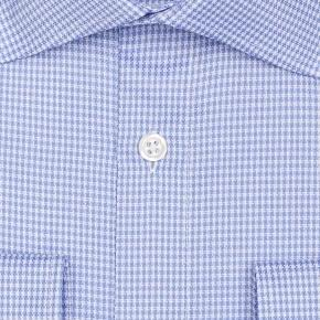 Blue Houndstooth Royal Oxford Shirt - thumbnail image 1