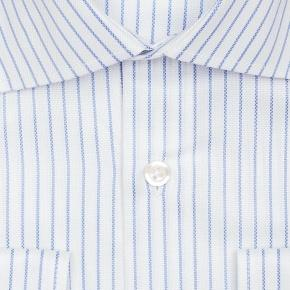 Blue Stripe White Cotton Royal Oxford Shirt - thumbnail image 1