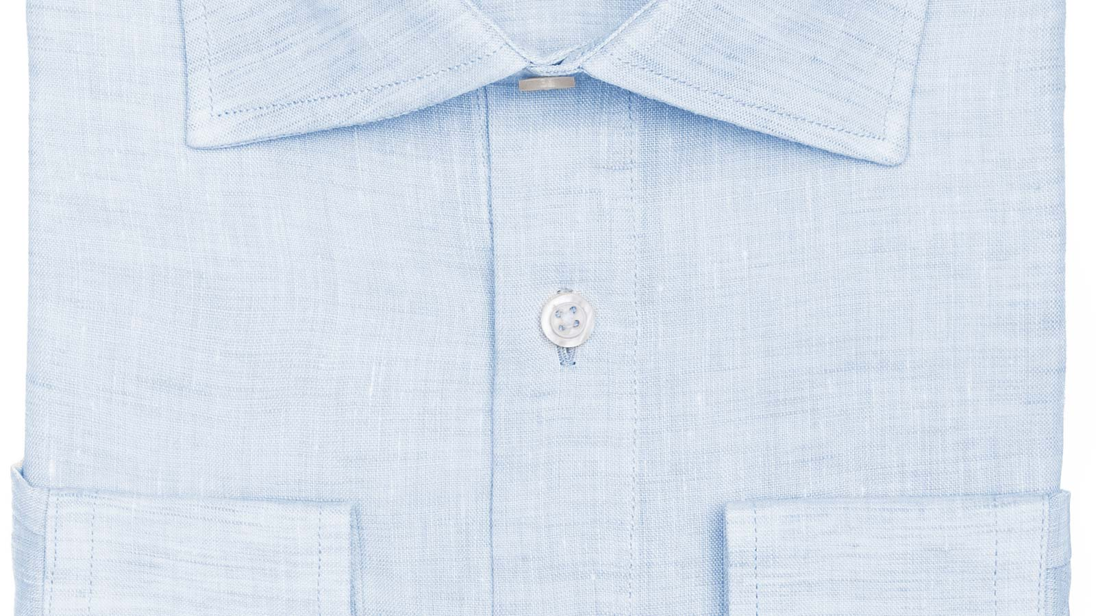 Light Blue Linen Shirt - slider image