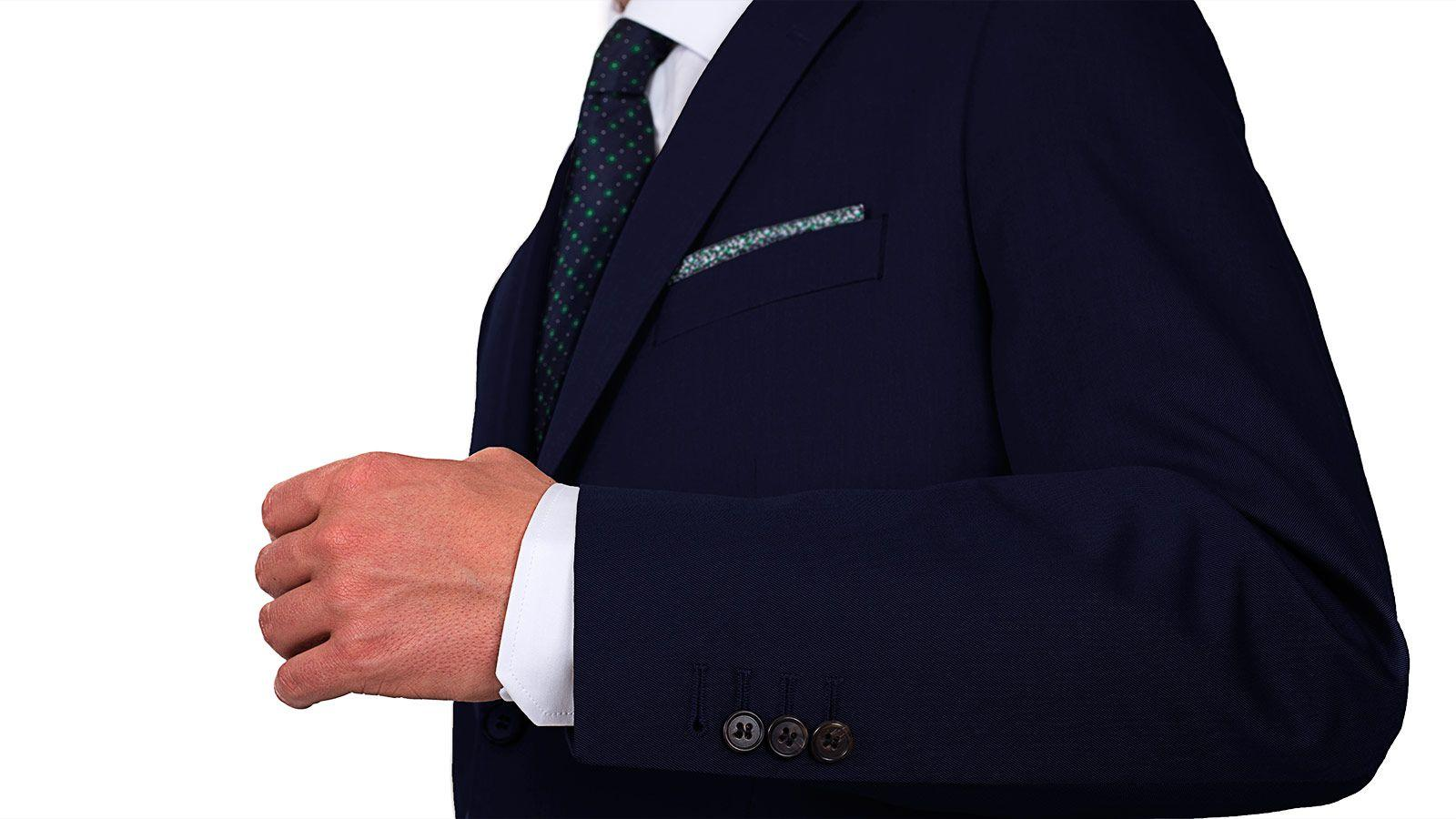 Suit in Navy Cotton - slider image