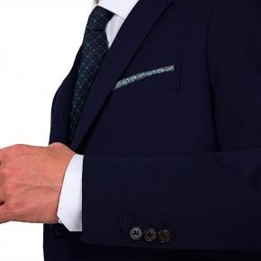 Suit in Navy Cotton - thumbnail image 1