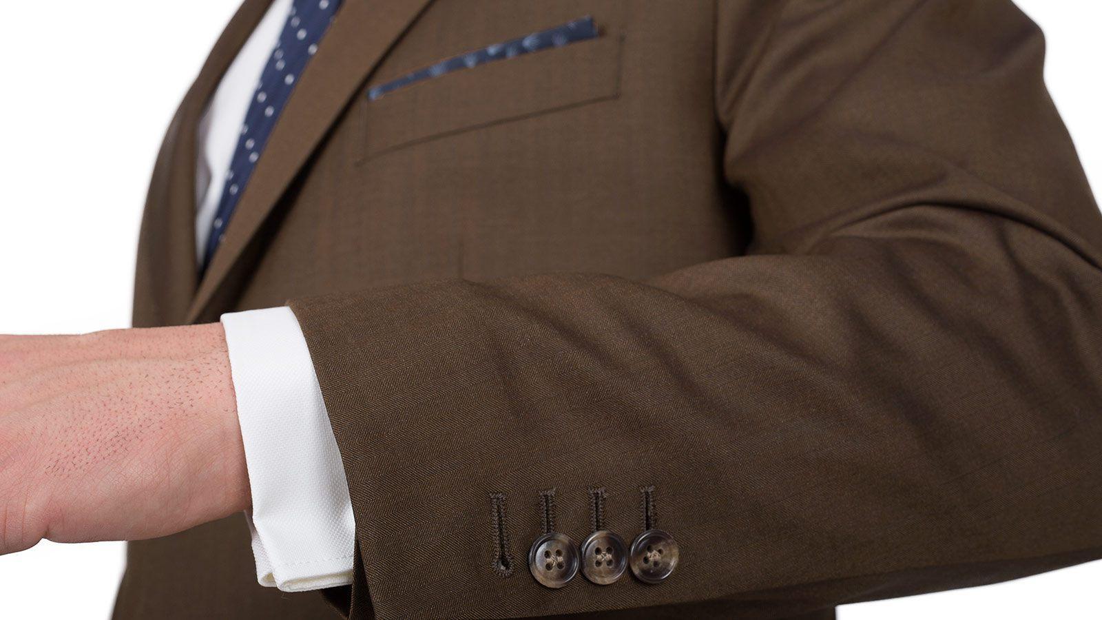Premium Coffee Brown Wool & Silk Suit - slider image 1