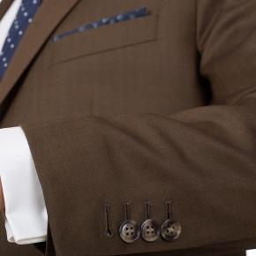 Premium Coffee Brown Wool & Silk Suit - thumbnail image 1
