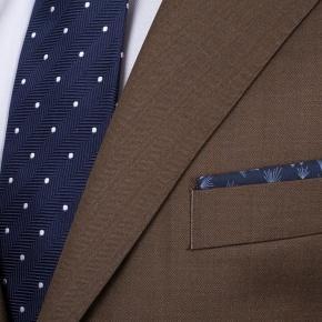 Premium Coffee Brown Wool & Silk Suit - thumbnail image 2