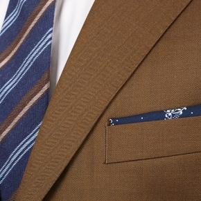 Premium Bronze Brown Wool & Silk Suit - thumbnail image 2