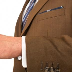 Premium Bronze Brown Wool & Silk Suit - thumbnail image 1
