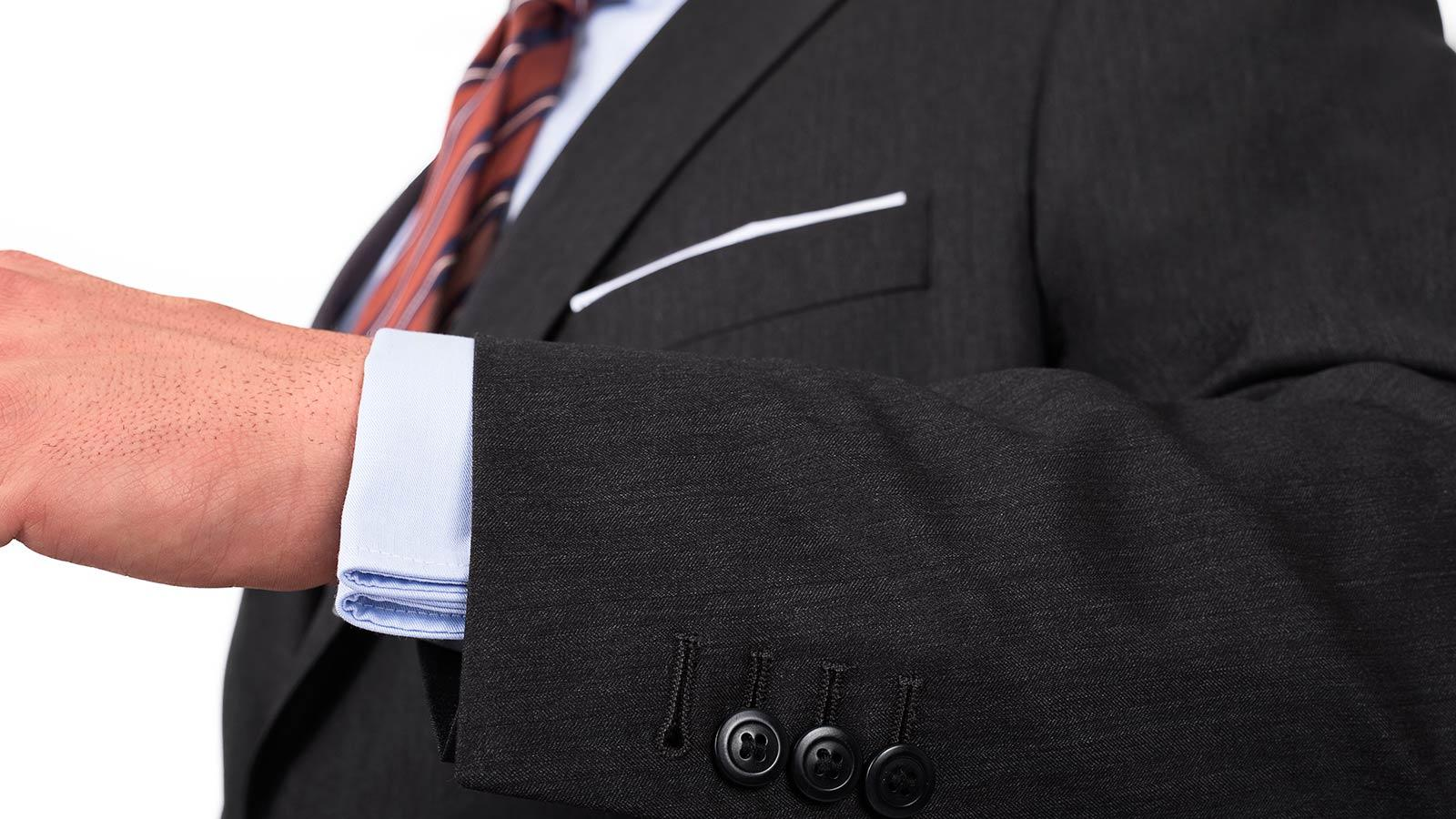 Premium Dark Grey Wool & Silk Suit - slider image 1