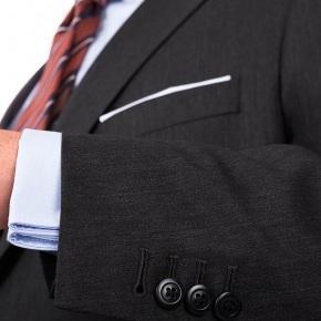 Premium Dark Grey Wool & Silk Suit - thumbnail image 1