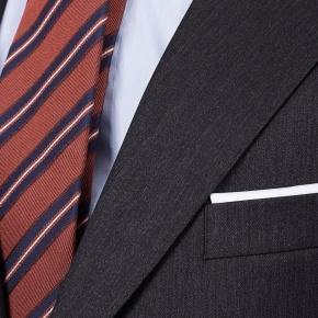 Premium Dark Grey Wool & Silk Suit - thumbnail image 2