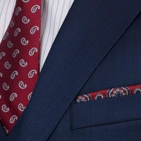 Premium Deep Blue Wool & Silk Suit - thumbnail image 1