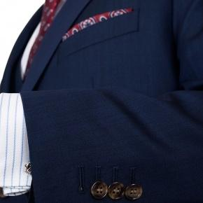 Premium Deep Blue Wool & Silk Suit - thumbnail image 2