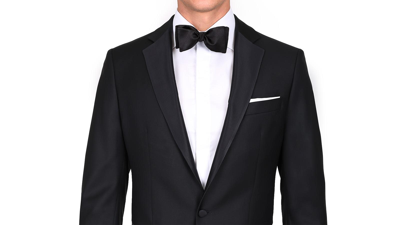 Tuxedo in Black Wool - slider image 1