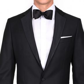Tuxedo in Black Wool - thumbnail image 1
