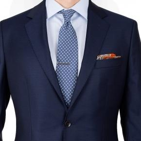 Suit in Solid Deep Blue Wool - thumbnail image 1
