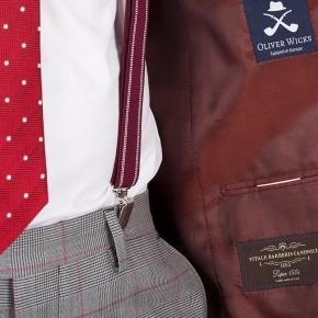Vendetta Premium Grey & Red Plaid Suit - thumbnail image 3