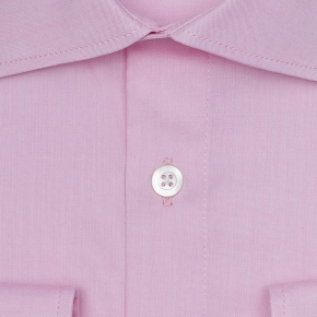 Pastel Pink Two-Ply Pinpoint Oxford Shirt - thumbnail image 1