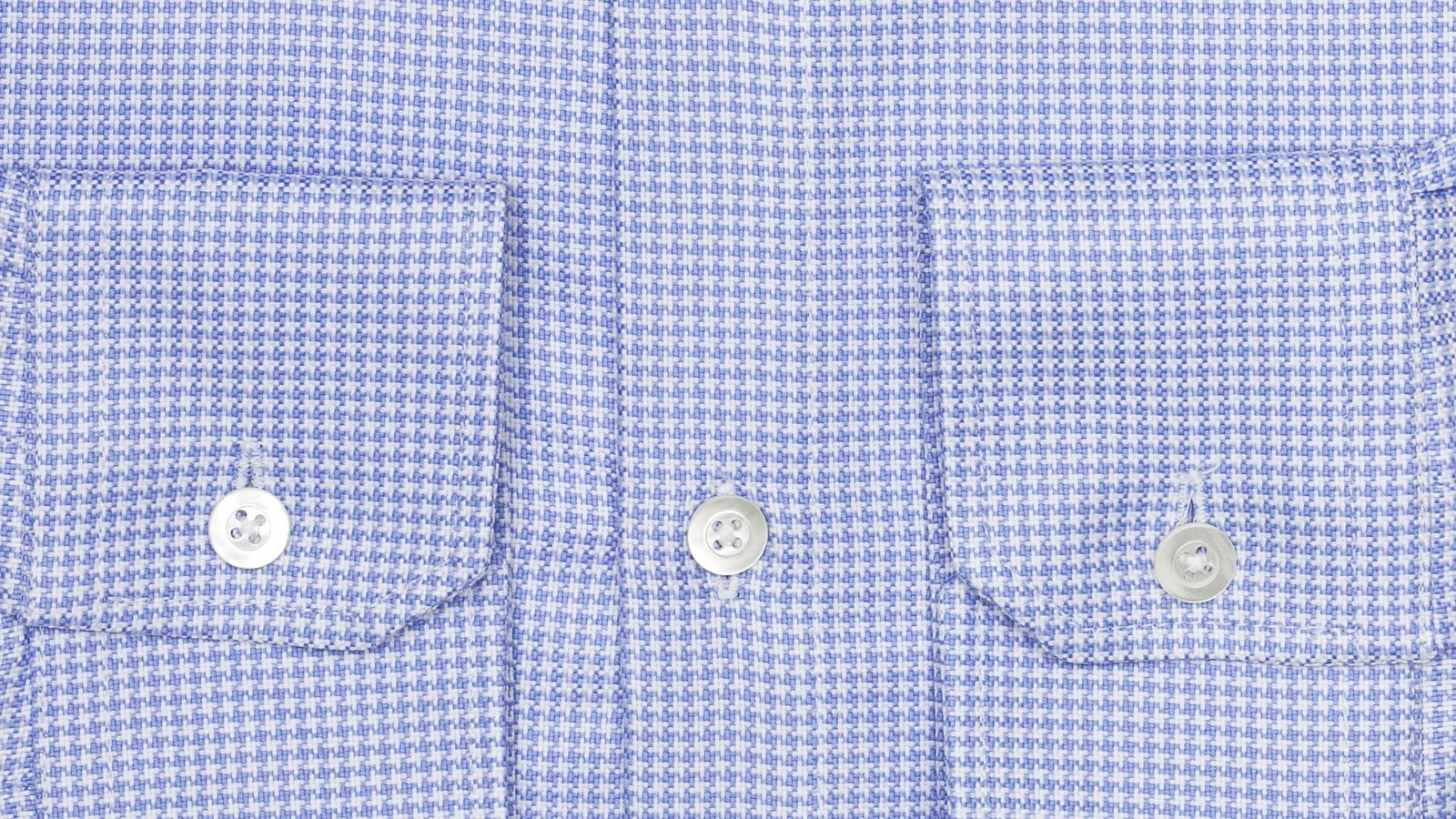 Blue Houndstooth Two-Ply Cotton Broadcloth Shirt - slider image