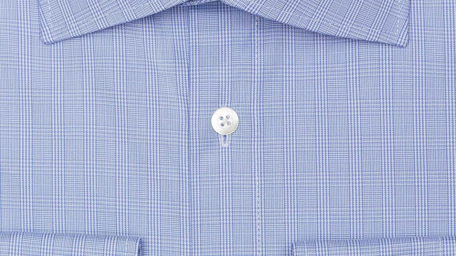 Checked Blue Cotton Shirt - slider image