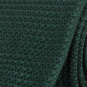 Dark Green 100% Grenadine Silk Tie - thumbnail image 1