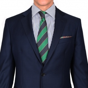 Suit in Navy Pick & Pick Wool - thumbnail image 2