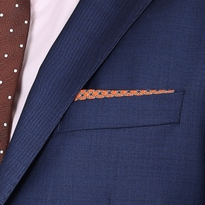 Suit in Intense Blue Pick & Pick Wool - thumbnail image 3