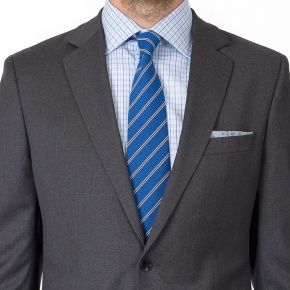 Suit in Solid Grey Wool - thumbnail image 3