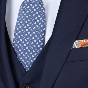 Suit in Solid Deep Blue Wool - thumbnail image 2