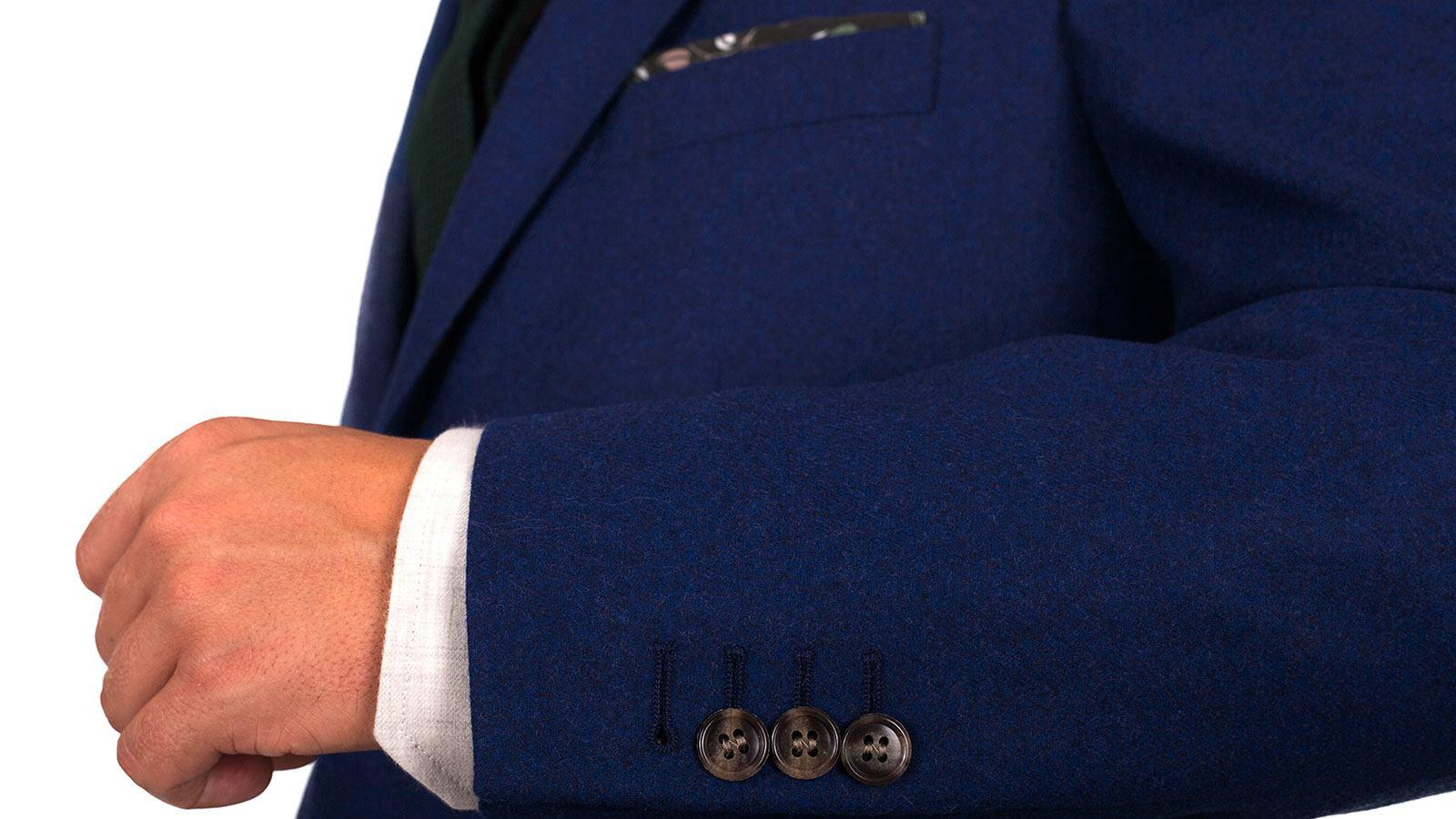 Royal Blue Wool Flannel Suit - slider image
