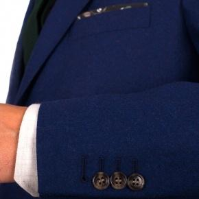 Royal Blue Wool Flannel Suit - thumbnail image 1